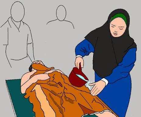 Orang Kafir Memandikan Jenazah Muslim