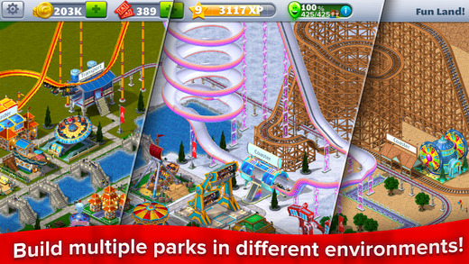 screen520x924%2B%25281%2529 HACK RollerCoaster Tycoon® 4 Mobile™ v1.10.12 +2 [Free Store + Level] Apps