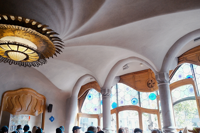 Belle Etage Casa Batlló Barcelona. 4 Tipps in Barcelona für Kunst- und Architekturliebhaber. Reisetipps: Modernisme Jugendstil Gaudi, Architektur, Kunst und Design in Barcelona. Tasteboykott Blog.