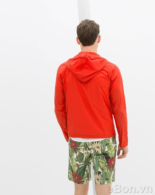 Zara Nylon Peaked Hooded Jacket
