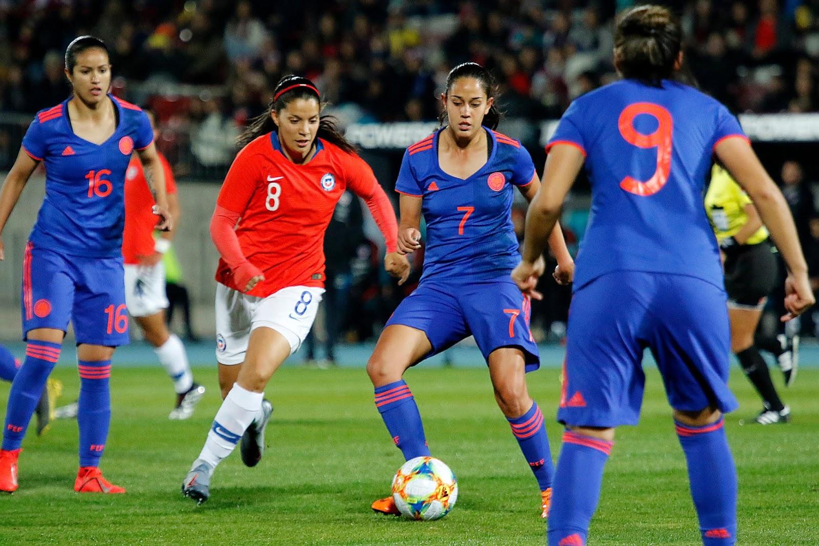 Chile y Colombia en partido amistoso femenino, 19 de mayo de 2019