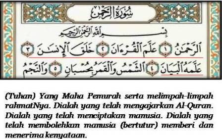 Image result for surah ar-rahman ayat 1-4