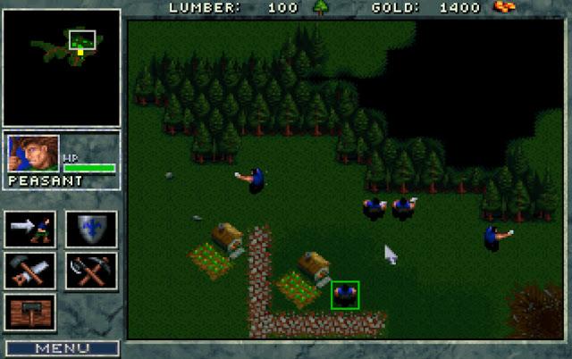 Warcraft 1 Woodcutting Screenshot