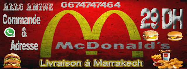 McDonald's Marrakech : Aujourd'hui Livraison à Domicile