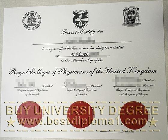 Buy fake MRCP certificate, phony MRCP diploma