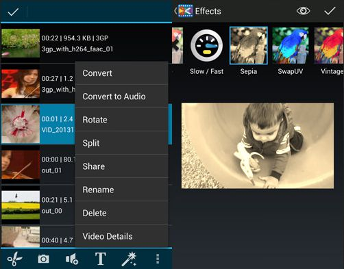 Aplikasi edit video android - androvid video editor