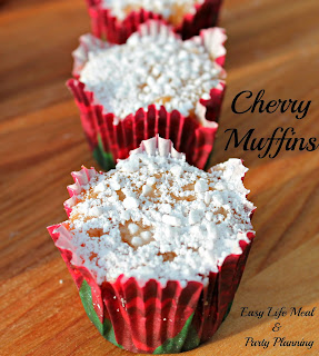 Mini Cherry Muffins  from Easy Life Meal and Party Planning