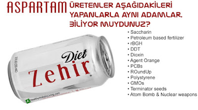 zararlı aspartam yapay tatlandırıcı