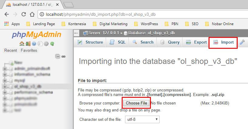 Import Database ke XAMPP