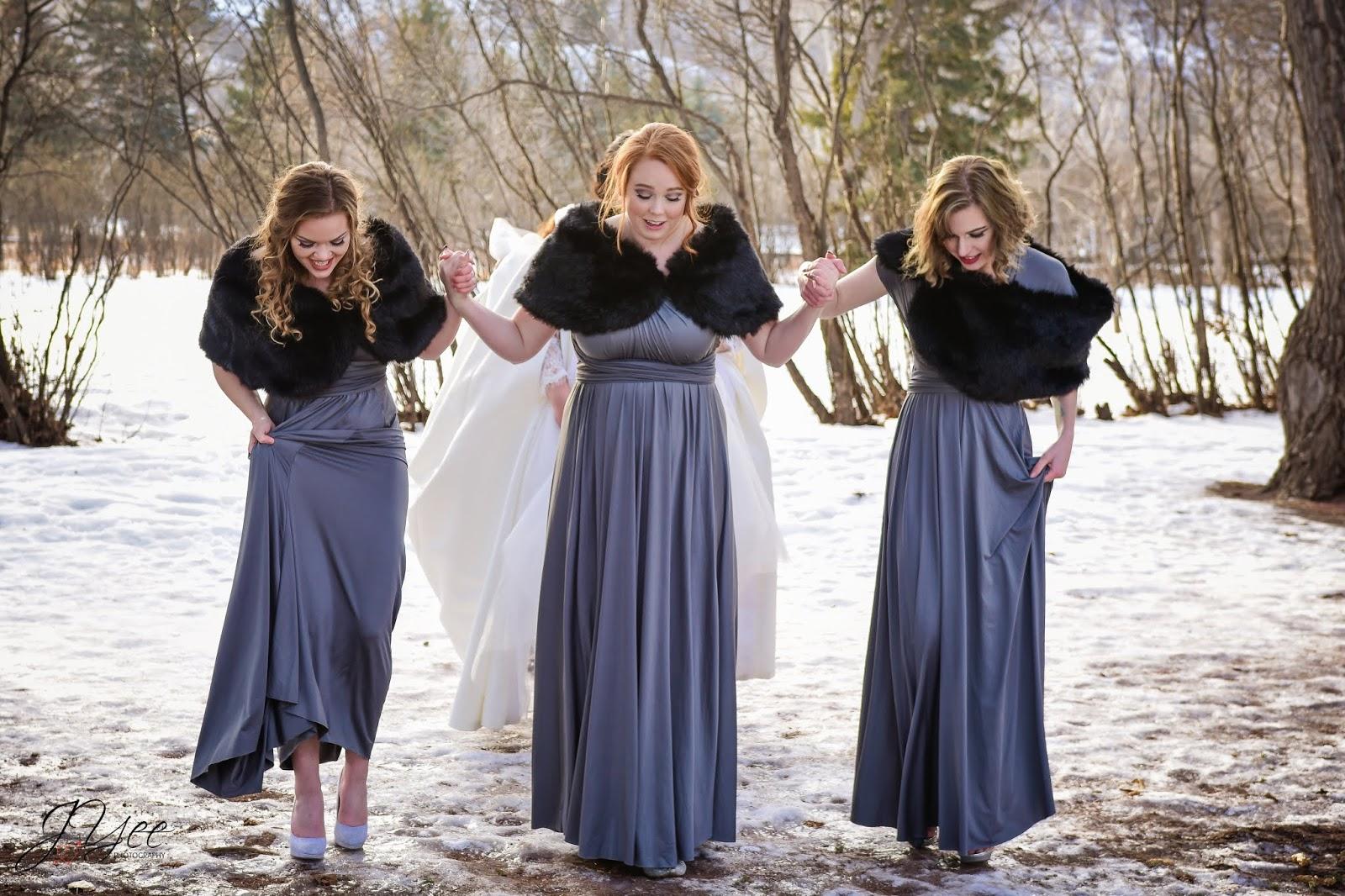 A Divine Affair Winter Wedding Bridesmaid Dress Trends