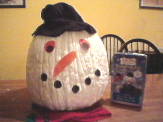 Pumpkin Decorating Ideas: Snowman Kit.