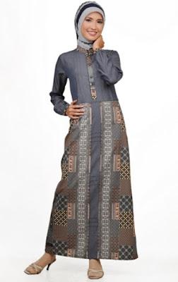 Dress gamis batik muslimah untuk bekerja