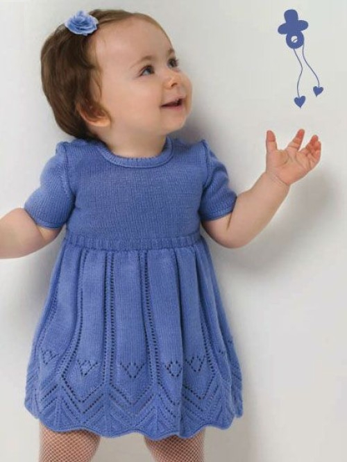 Cute Baby Knitted Dress - Free Pattern