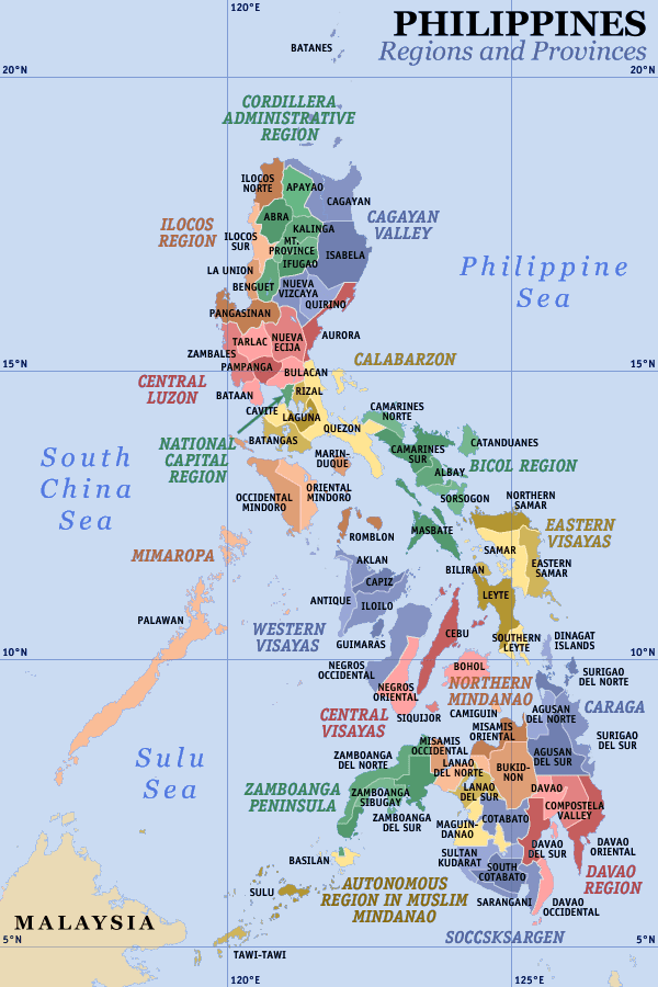 Pembagian provinsi di Filipina