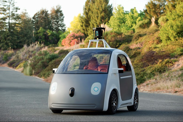 Google's Self Driving Car Has No Steering Wheel, Brakes