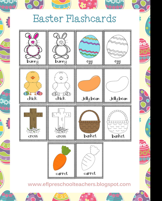 Esl Efl Preschool Teachers Easter For Preschool Ell