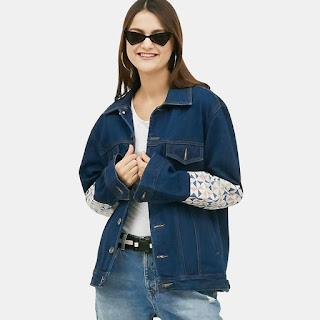 Empathy Square Jaket Wanita - Denim
