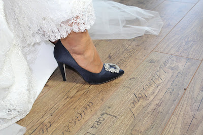 scarpa blu sposa