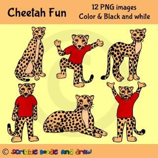 clip art images of cheetahs sitting and cheetah wearing shirts