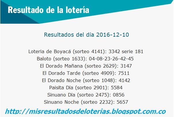 resultados de loteria de colombia