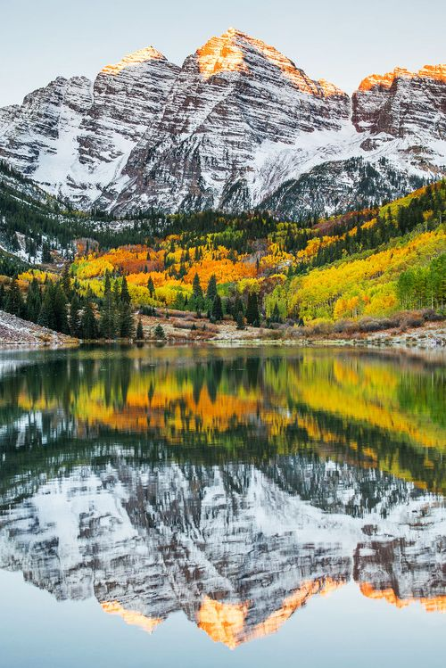 Maroon Bells, Aspen, Colorado, USA