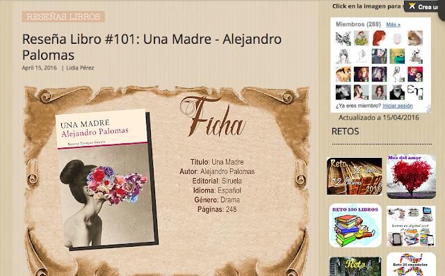 http://yerathel41.wix.com/agarratevienenlibros#!Rese%C3%B1a-Libro-101-Una-Madre-Alejandro-Palomas/ulspz/56da04a20cf249e9dfd2d39c