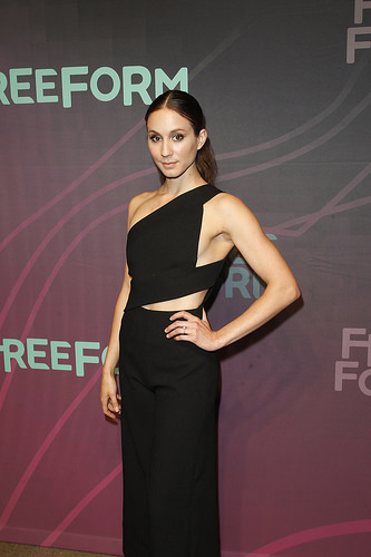 Pretty Little Liars actress Troian Bellisario (Spencer) at Freeform 2016 Upfront