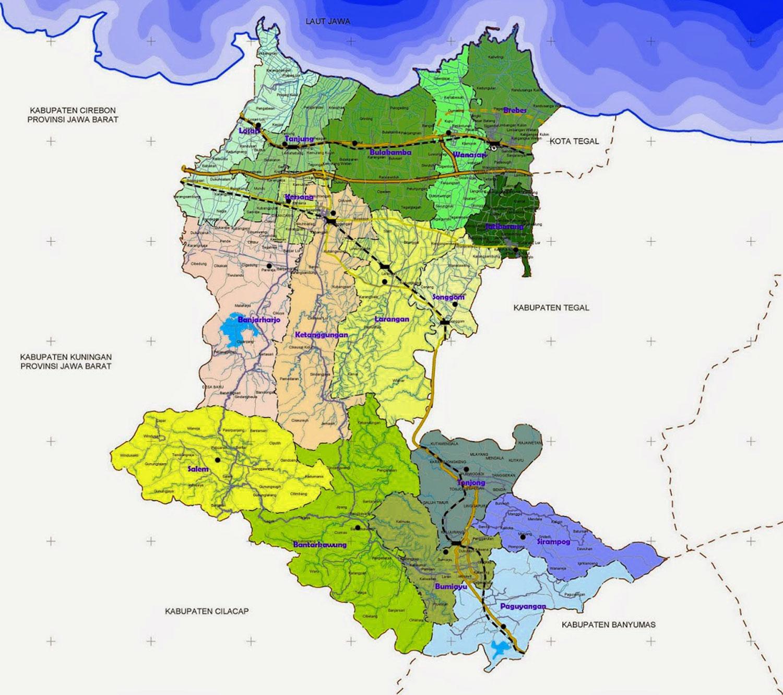 Gambar Peta Administratif Kabupaten Brebes