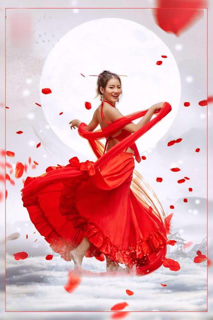 Váy đỏ chứng tỏ rất xinh