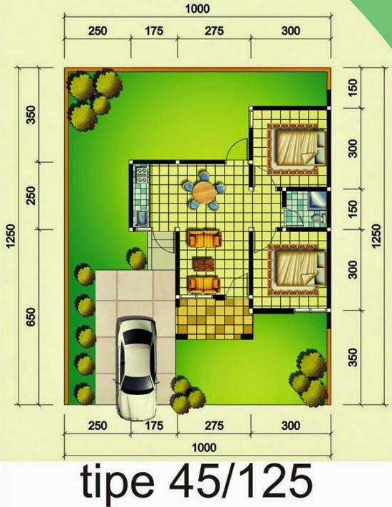 Denah Rumah Minimalis 1 Lantai Modern Terbaru