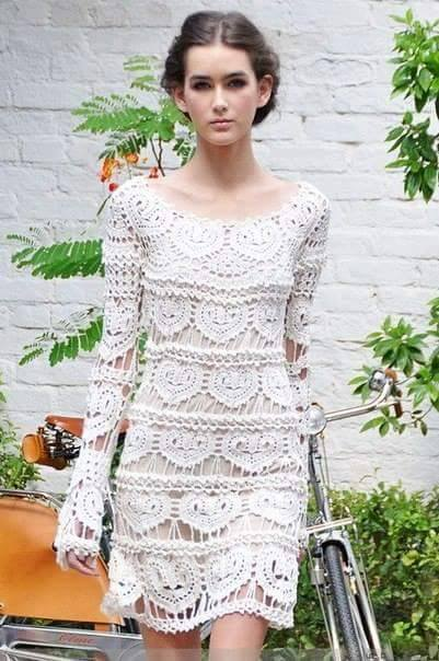 Patrón 977 Vestido Corazones a Crochet