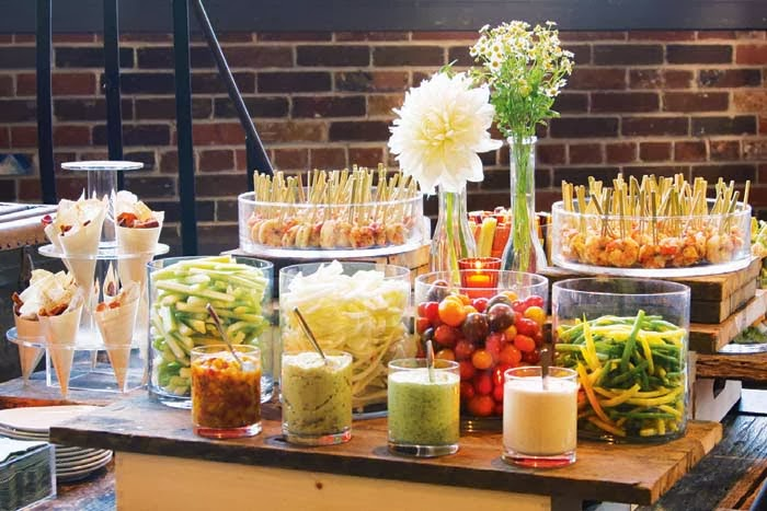 Cocktail Hour Food Station Ideas
