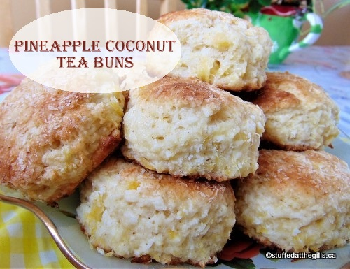 Pineapple Coconut Tea Buns