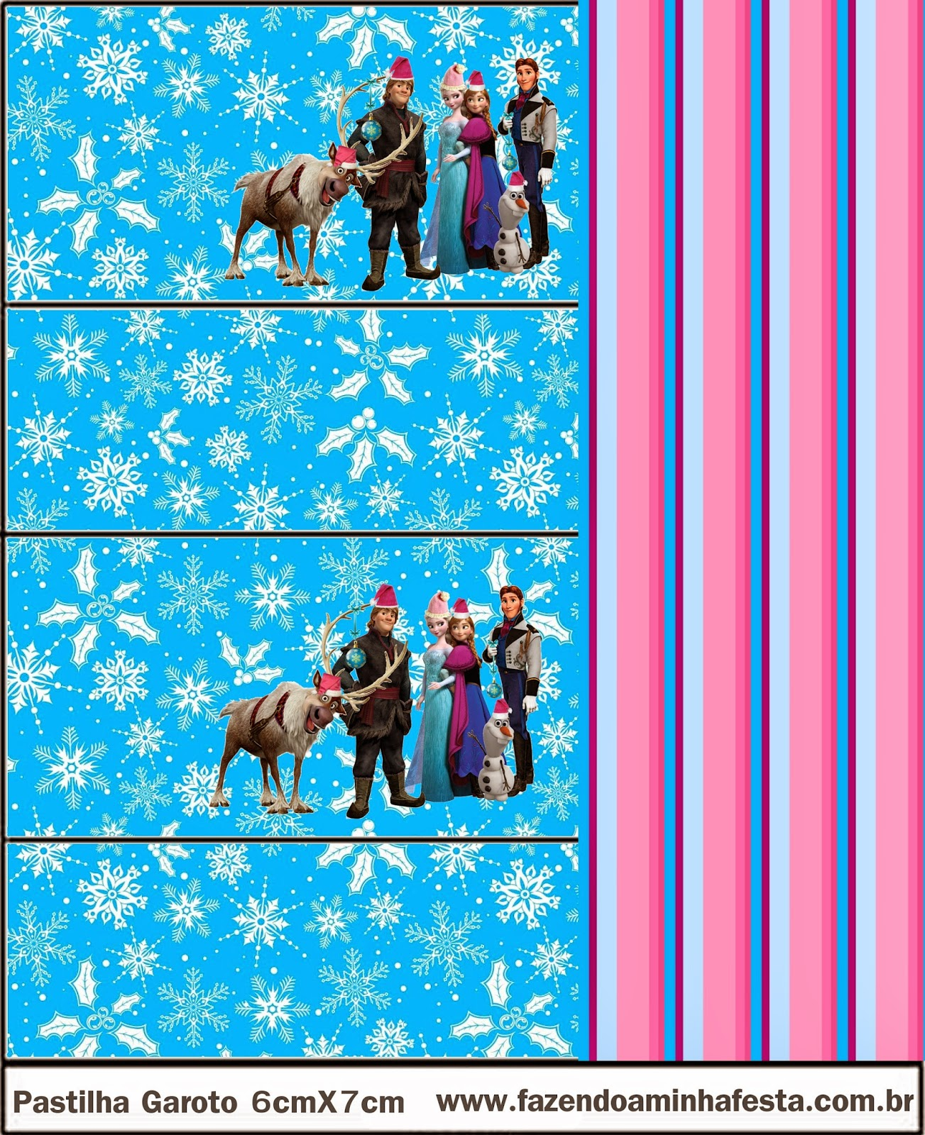 Etiquetas de Frozen para Navidad para imprimir gratis.