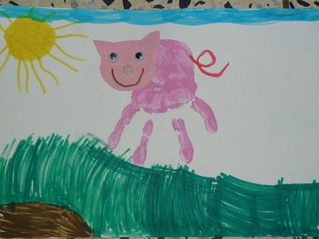 Säuli im Kindergarten