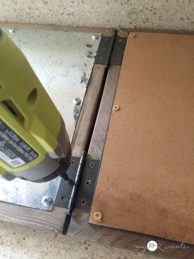 attaching easel frames with hinges