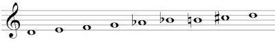 Octatonic scale beginning with a whole-step