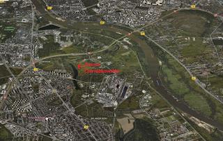 Jezioro Czerniakowskie - zakolowe (Google Maps)