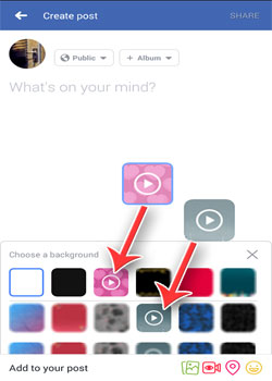 Cara Buat Status Facebook Dengan Background (Latar Belakang) Gambar Animasi