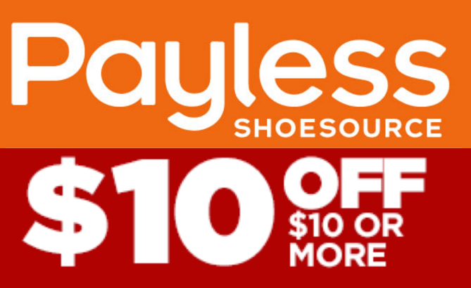 Payless coupons $10 off $10