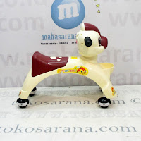 Ride On Car Happy Baby Dragon Cream Coklat