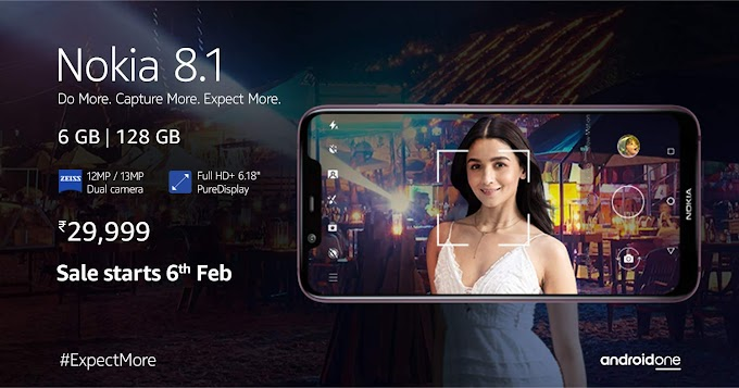 Nokia 8.1 (6GB+128GB) now available on Amazon.in for Rs.29,999/-