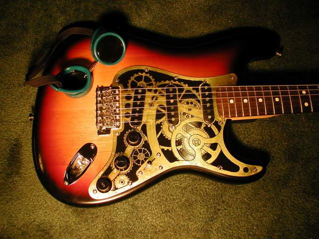 art sci steampunk guitars harmonize victorian science and modern music. Black Bedroom Furniture Sets. Home Design Ideas