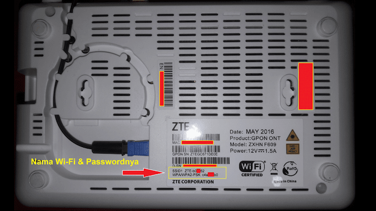 Cara Setting / Ganti Password Wifi Indihome ZTE F609/F660