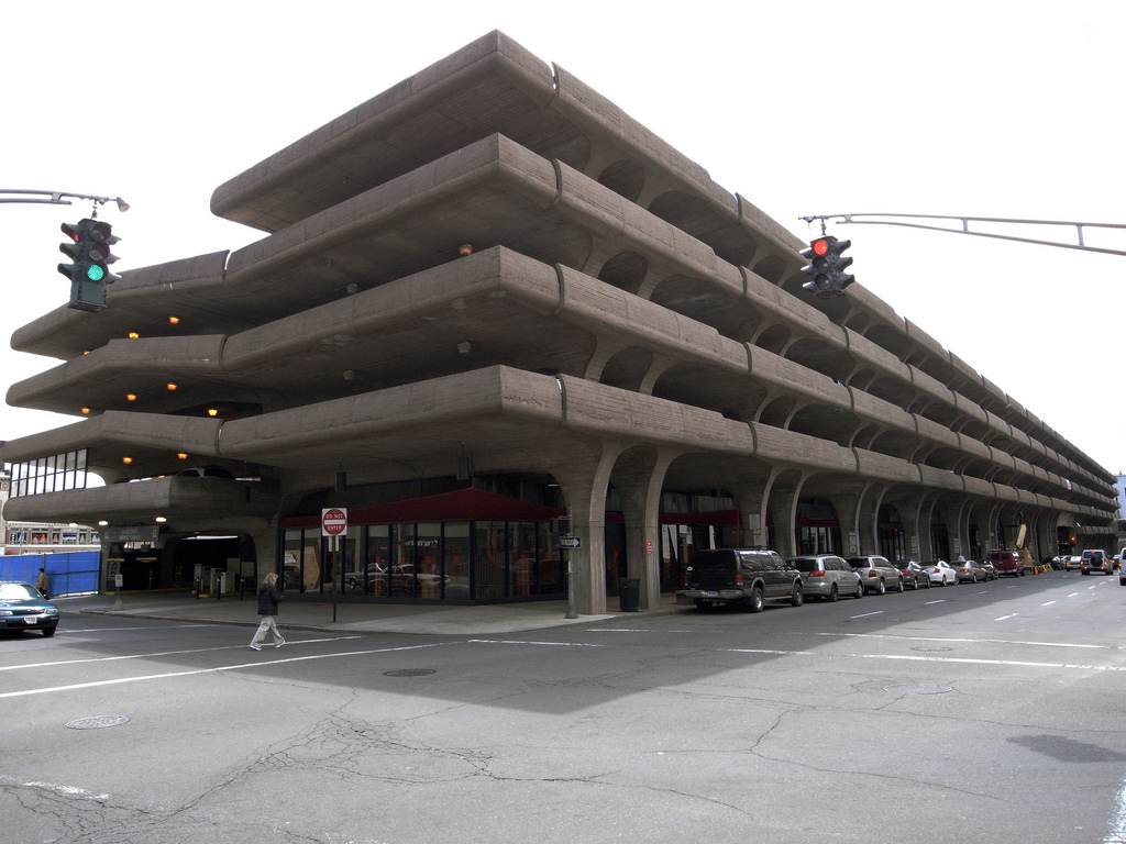 Hidden architecture temple street parking garage - Maison car park los angeles anonymous architects ...