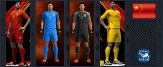 China National Football Team kit 2016-17 Pes 2013