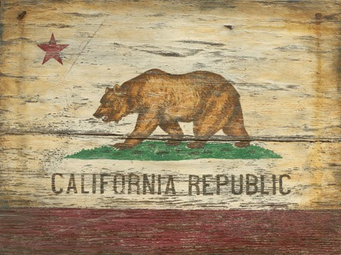 California vintage plaque