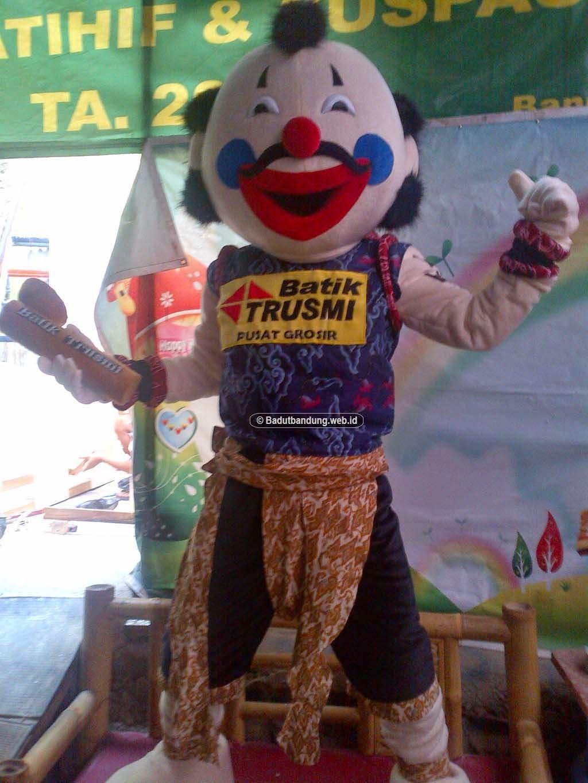 gambar kostum gatot kaca batik maskot cirebon
