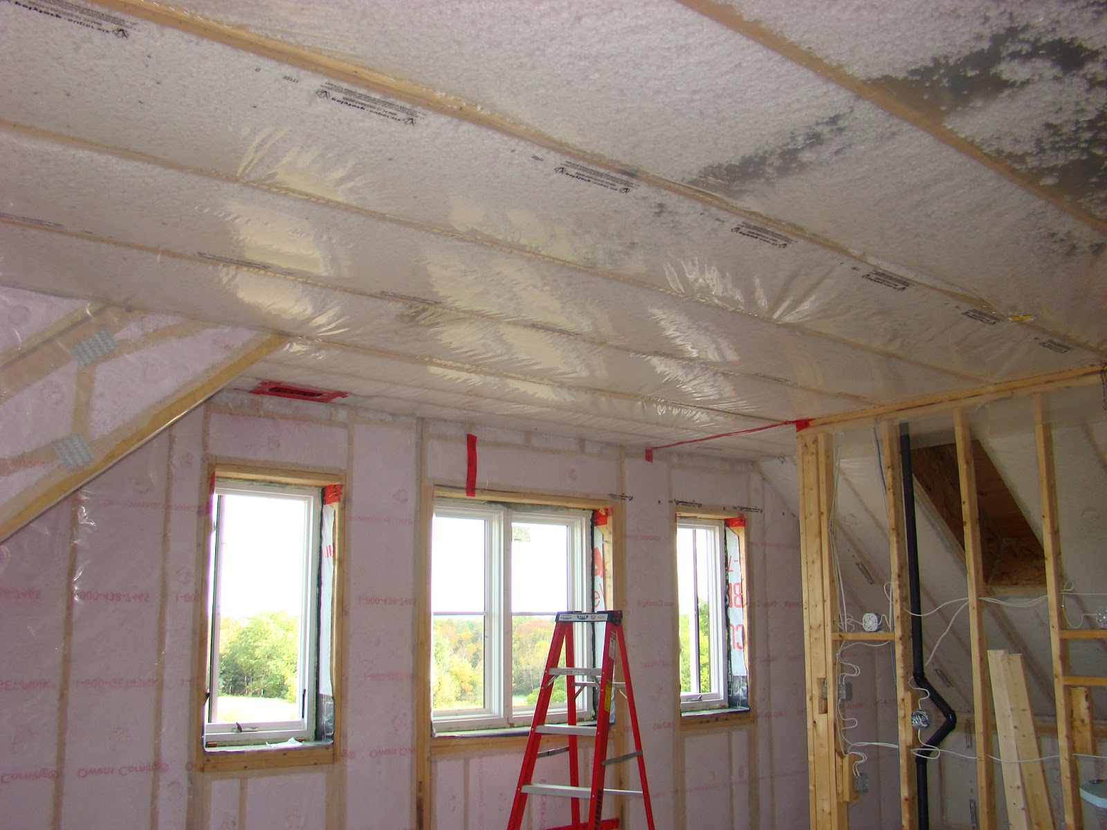 Building Walnut Farm Insulation Sprayed & Blown