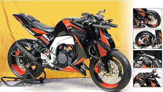 Modifikasi Yamaha Byson Naked Fighter